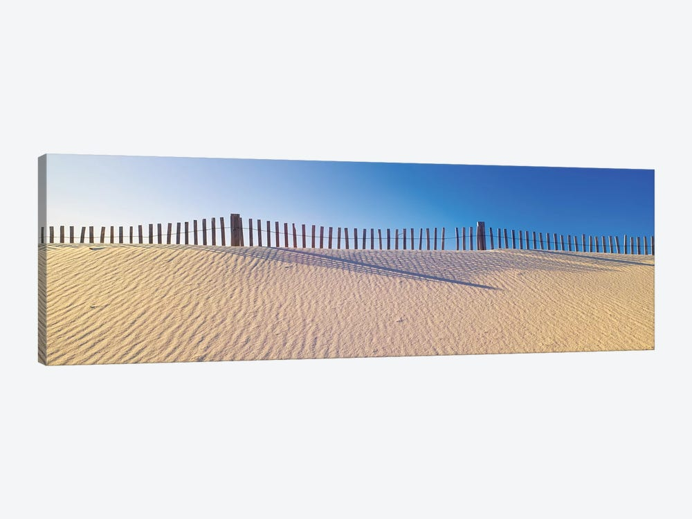 Beachfront Fencing, Santa Rosa Island, Florida, USA 1-piece Canvas Wall Art