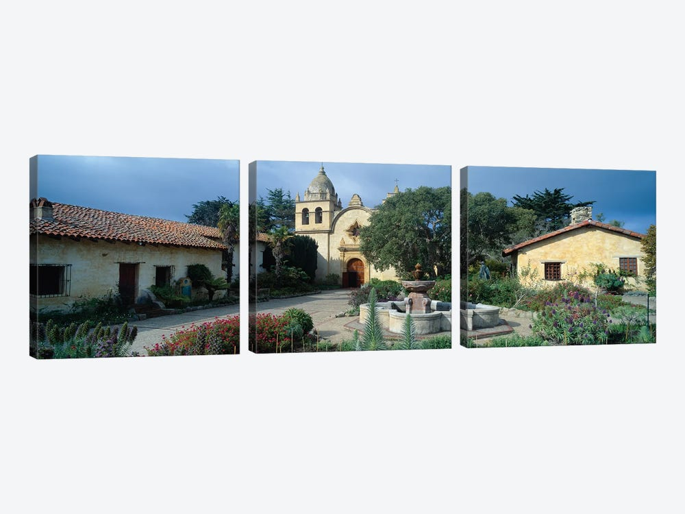 Mission San Carlos Borromeo del rio Carmelo (Carmel Mission), Carmel-by-the-Sea, Monterey County, California, USA by Panoramic Images 3-piece Canvas Art