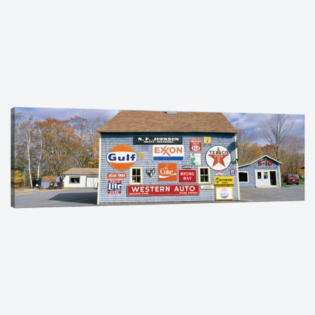 Exterior of Love Barn Antique Stove & Heater, Orland, Hancock County, Maine, USA Canvas Print #PIM14127} by Panoramic Images Canvas Print