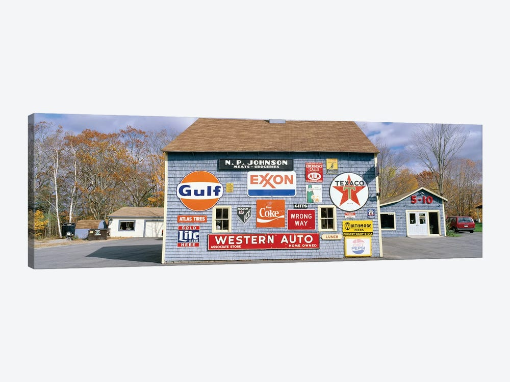 Exterior of Love Barn Antique Stove & Heater, Orland, Hancock County, Maine, USA by Panoramic Images 1-piece Canvas Wall Art