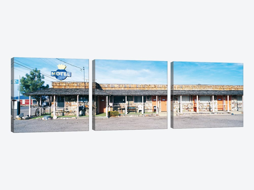 Old Motel, Tonopah, Nye County, Nevada, USA by Panoramic Images 3-piece Canvas Print
