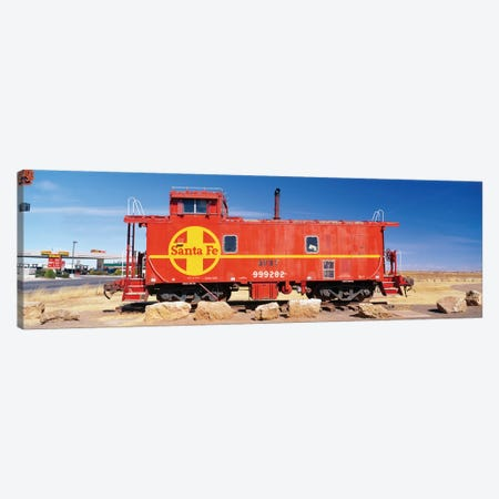 Red Atchison-Topeka-Santa Fe Railway (ATSF) Caboose, Visitors Center Display, Winslow, Navajo County, Arizona, USA Canvas Print #PIM14129} by Panoramic Images Canvas Artwork