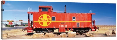 Red Atchison-Topeka-Santa Fe Railway (ATSF) Caboose, Visitors Center Display, Winslow, Navajo County, Arizona, USA Canvas Print #PIM14129