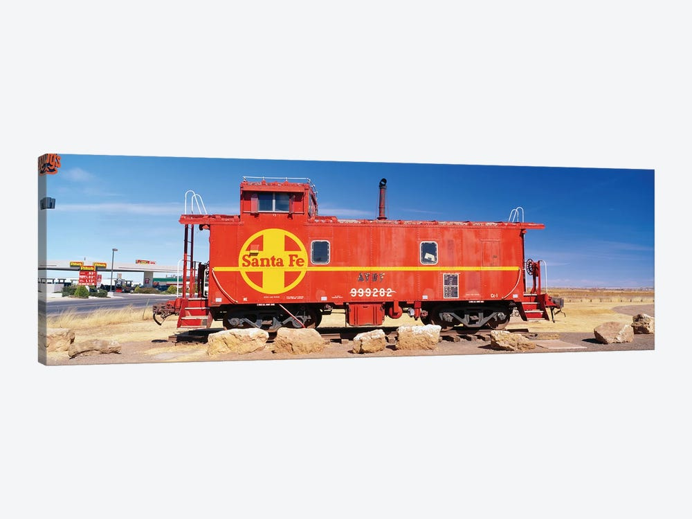 Red Atchison-Topeka-Santa Fe Railway (ATSF) Caboose, Visitors Center Display, Winslow, Navajo County, Arizona, USA by Panoramic Images 1-piece Canvas Wall Art