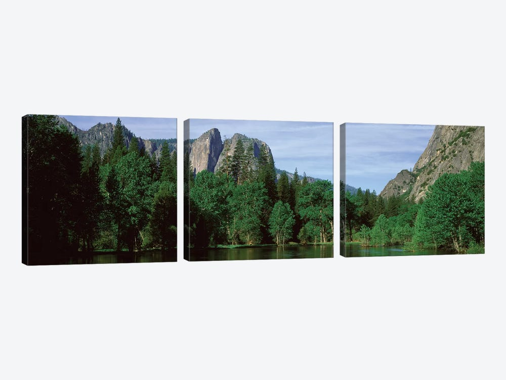 Spring Landscape, Yosemite National Park, California, USA by Panoramic Images 3-piece Canvas Artwork