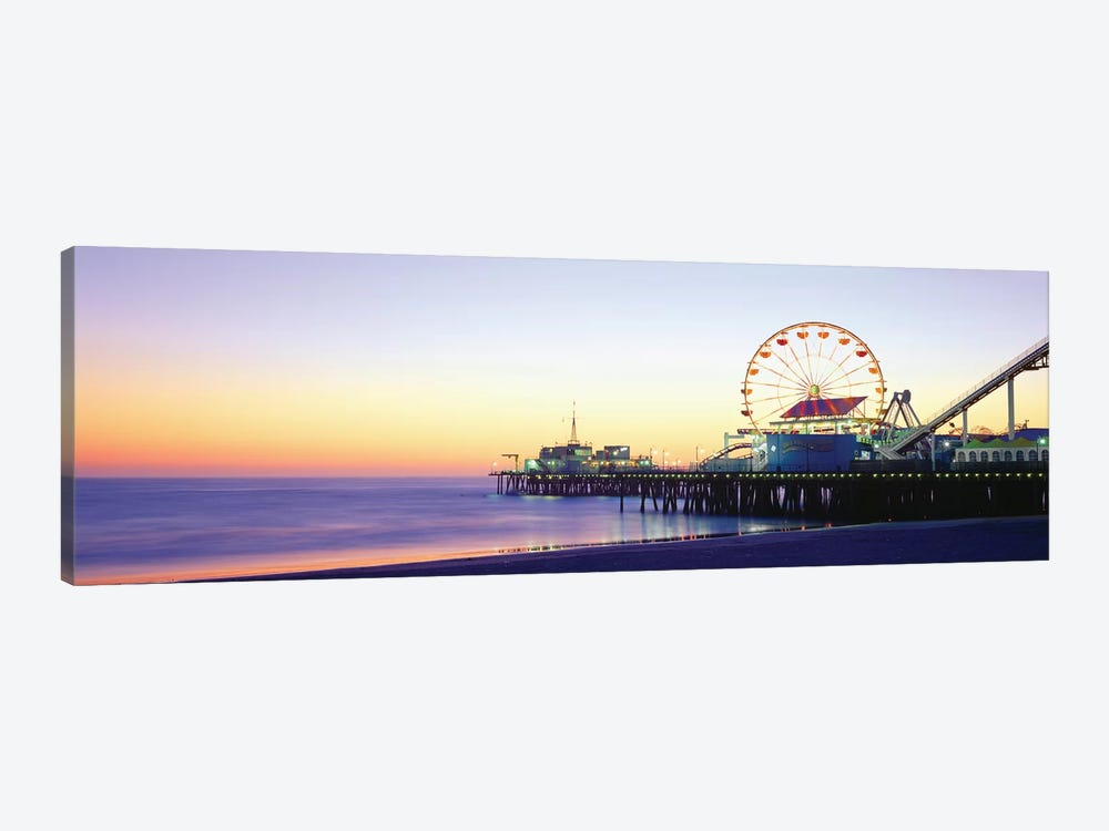 Santa Monica Pier, Santa Monica, Los Angeles County, California, USA by Panoramic Images 1-piece Canvas Art