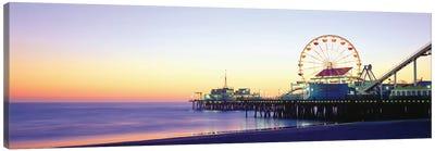 Santa Monica Pier, Santa Monica, Los Angeles County, California, USA Canvas Art Print