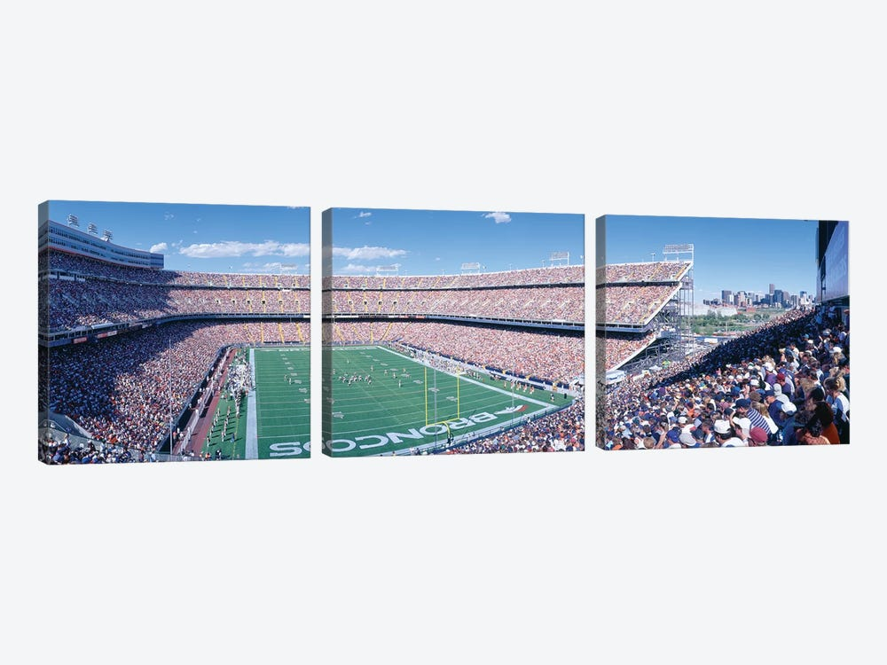 Aerial View I, Mile High Stadium, Denver, Denver County, Colorado, USA by Panoramic Images 3-piece Canvas Art Print