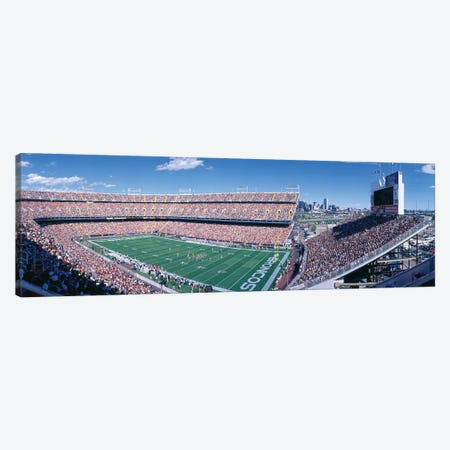 Aerial View II, Mile High Stadium, Denver, Denver County, Colorado, USA Canvas Print #PIM14134} by Panoramic Images Canvas Wall Art