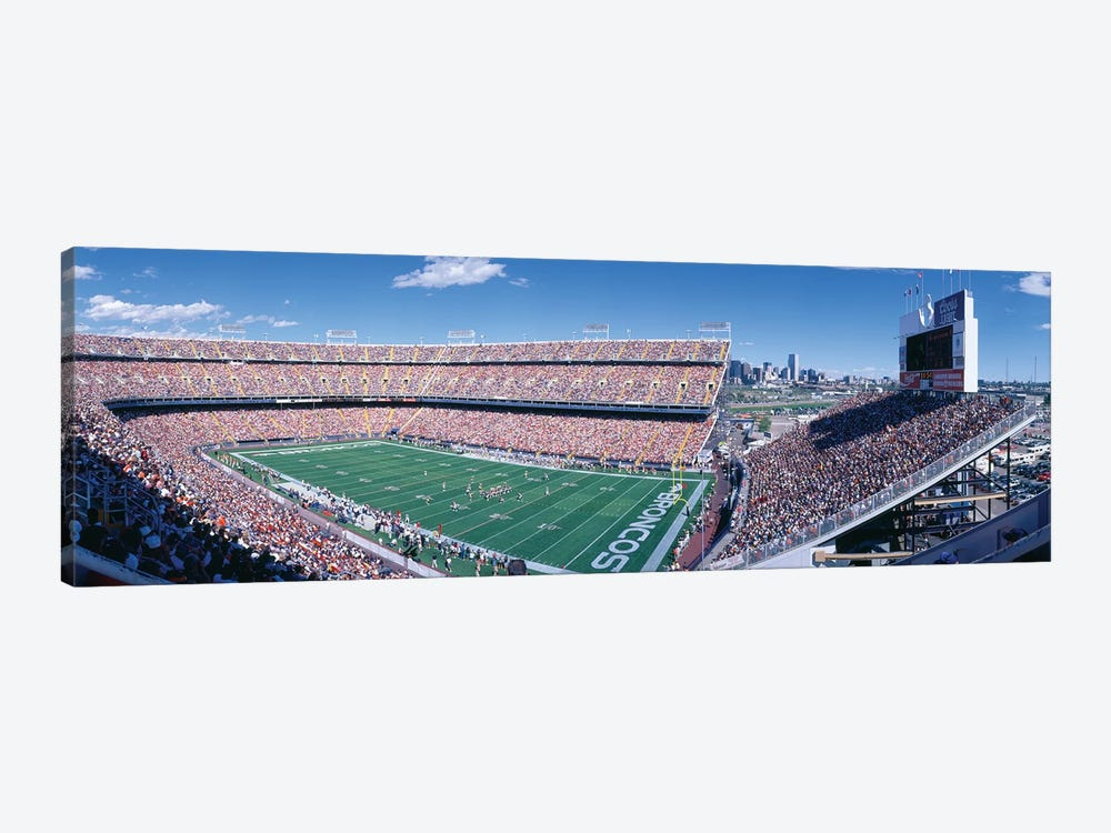 Aerial View II, Mile High Stadium, Denver, Denver County, Colorado, USA by Panoramic Images 1-piece Canvas Wall Art