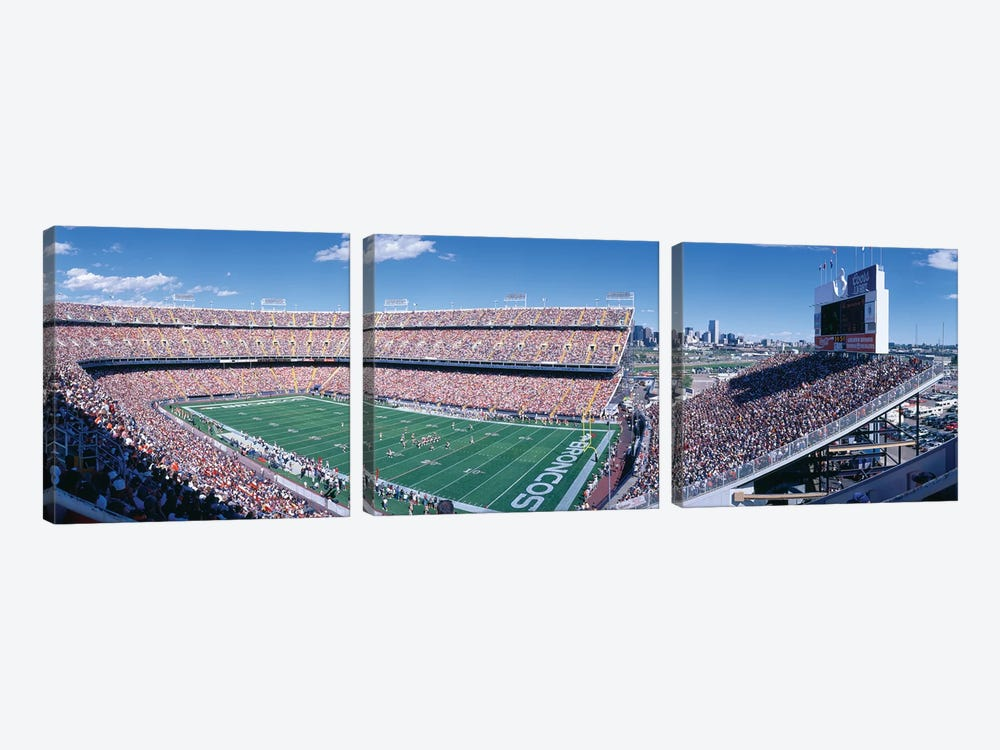 Aerial View II, Mile High Stadium, Denver, Denver County, Colorado, USA by Panoramic Images 3-piece Canvas Wall Art