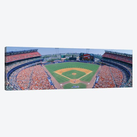 Aerial View I, Shea Stadium, Flushing, Queens, New York City, New York, USA Canvas Print #PIM14135} by Panoramic Images Canvas Artwork
