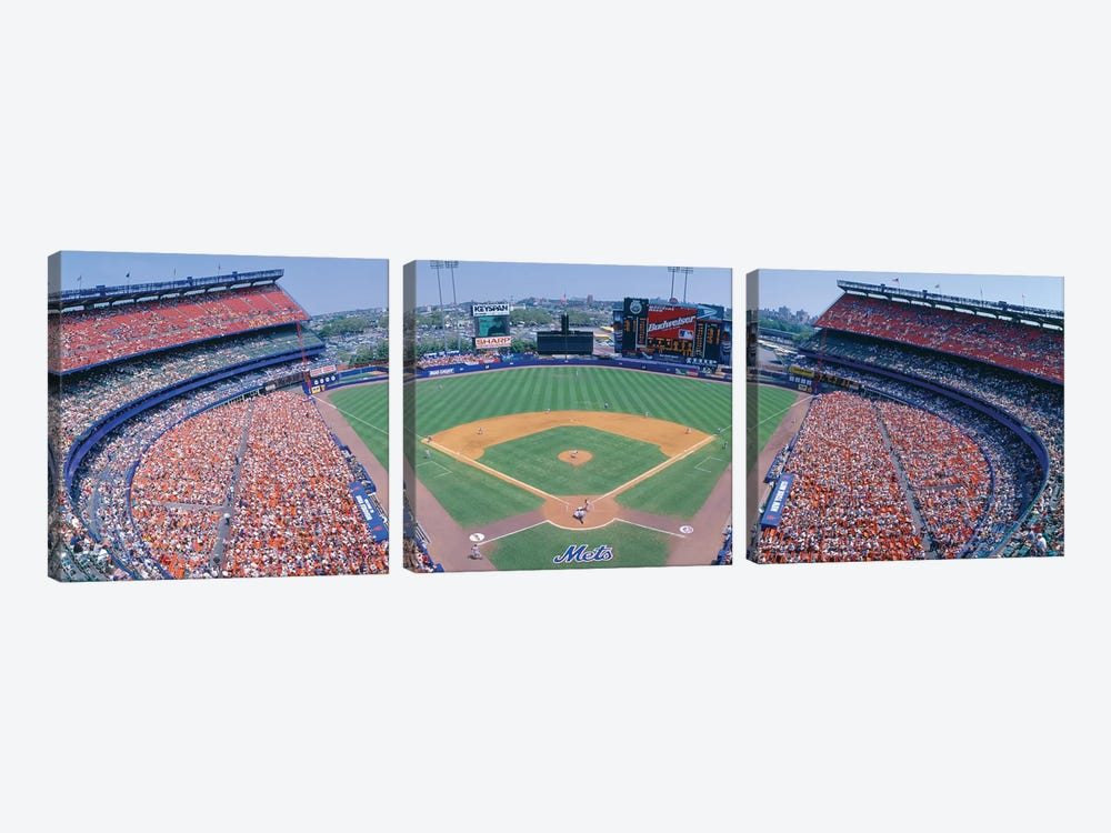 Aerial View I, Shea Stadium, Flushing, Queens, New York City, New York, USA by Panoramic Images 3-piece Canvas Print