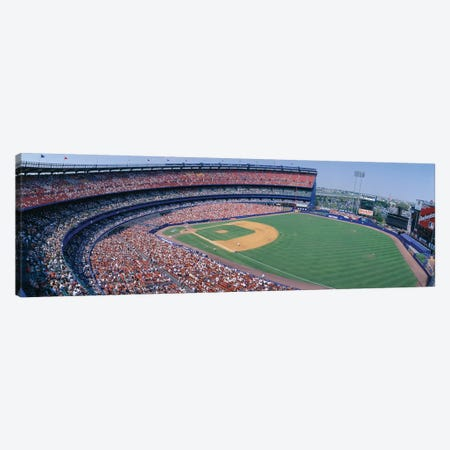 Aerial View II, Shea Stadium, Flushing, Queens, New York City, New York, USA Canvas Print #PIM14136} by Panoramic Images Canvas Art