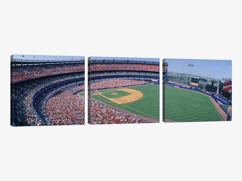 Aerial View II, Shea Stadium, Flushing, Queens, New York City, New York, USA by Panoramic Images 3-piece Canvas Artwork