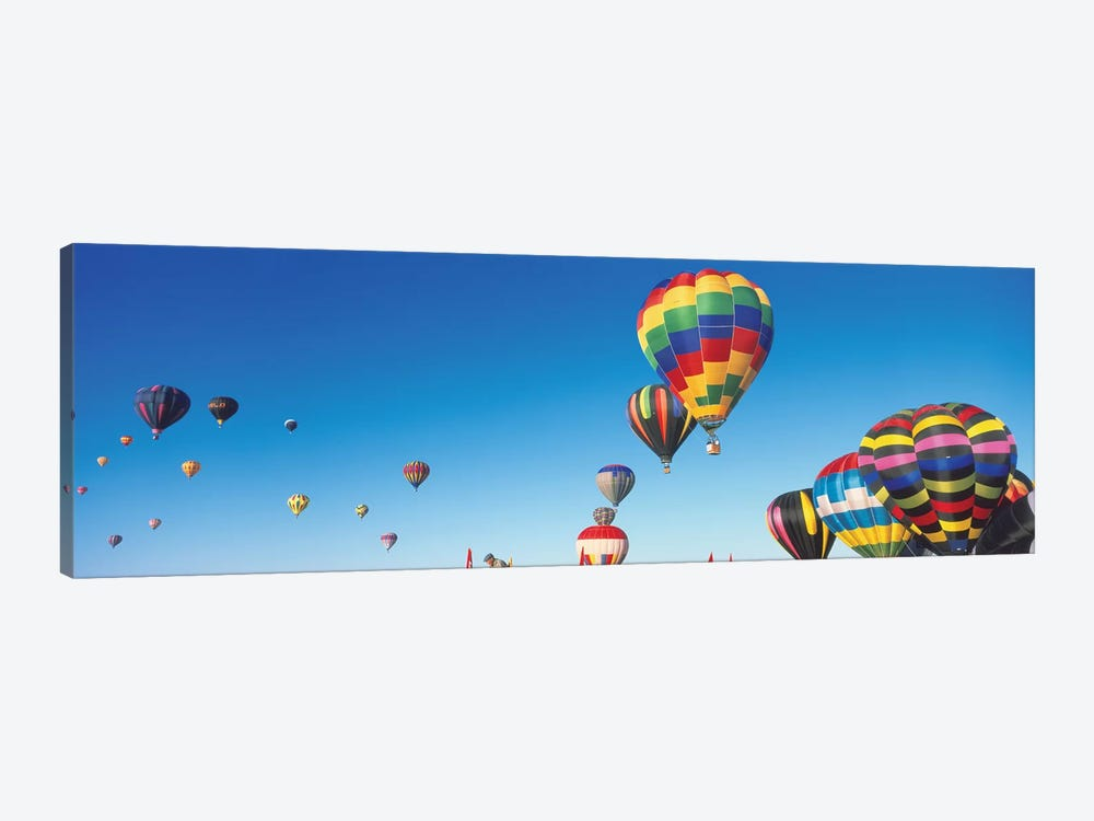 Mass Ascension, 25th Albuquerque International Balloon Fiesta, Albuquerque, Bernalillo County, New Mexico by Panoramic Images 1-piece Canvas Art Print