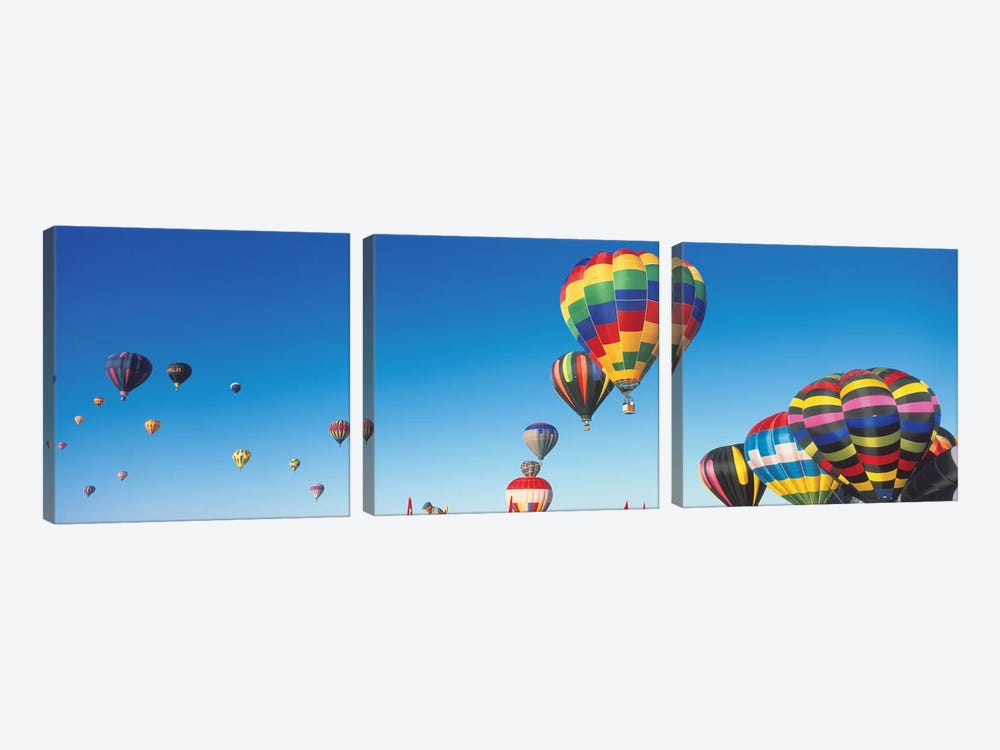 Mass Ascension, 25th Albuquerque International Balloon Fiesta, Albuquerque, Bernalillo County, New Mexico by Panoramic Images 3-piece Canvas Art Print