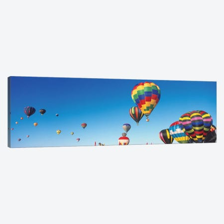 Mass Ascension, 25th Albuquerque International Balloon Fiesta, Albuquerque, Bernalillo County, New Mexico Canvas Print #PIM14137} by Panoramic Images Canvas Artwork