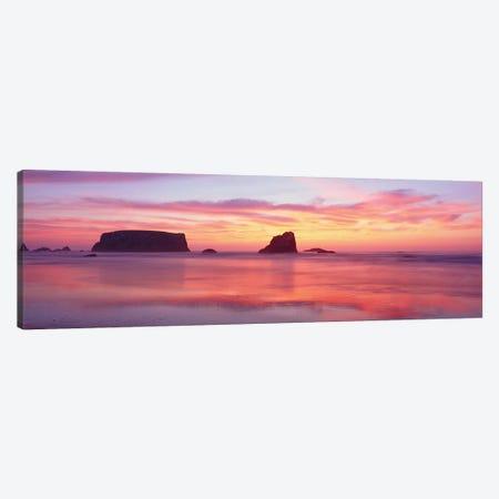 Coastal Rock Formations, Bandon, Coos County, Oregon, USA Canvas Print #PIM14138} by Panoramic Images Art Print