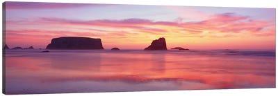 Coastal Rock Formations, Bandon, Coos County, Oregon, USA Canvas Art Print