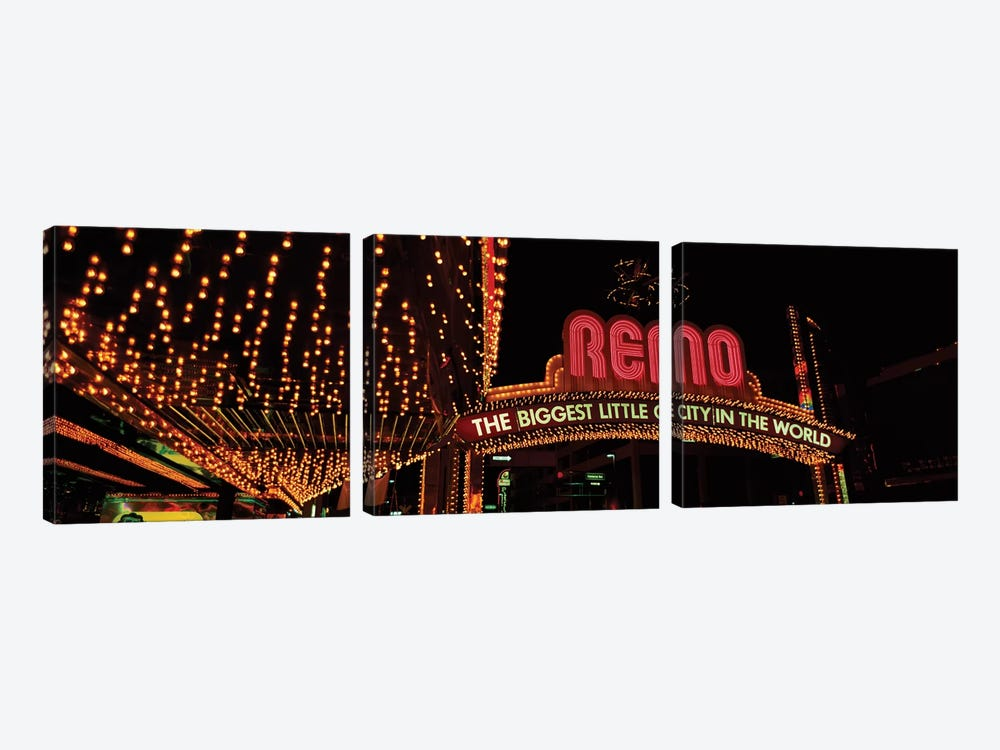Reno Arch, Reno, Washoe County, Nevada, USA by Panoramic Images 3-piece Canvas Art Print