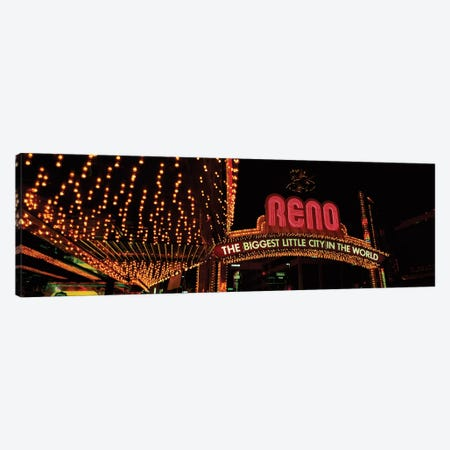 Reno Arch, Reno, Washoe County, Nevada, USA Canvas Print #PIM14139} by Panoramic Images Canvas Print