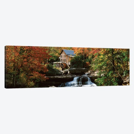 Autumn Landscape, Glade Creek Grist Mill, Babcock State Park, Fayette County, West Virginia, USA Canvas Print #PIM14140} by Panoramic Images Canvas Artwork