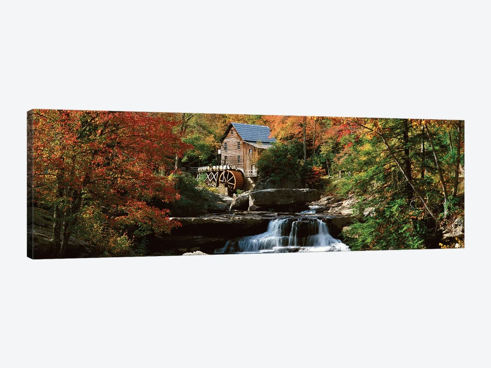 Autumn Landscape, Glade Creek Grist Mill, Babcock State Park, Fayette County, West Virginia, USA by Panoramic Images 1-piece Art Print
