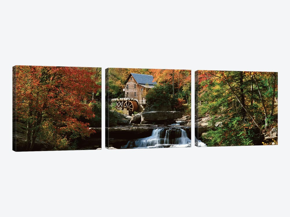 Autumn Landscape, Glade Creek Grist Mill, Babcock State Park, Fayette County, West Virginia, USA by Panoramic Images 3-piece Art Print