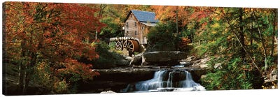 Autumn Landscape, Glade Creek Grist Mill, Babcock State Park, Fayette County, West Virginia, USA Canvas Art Print