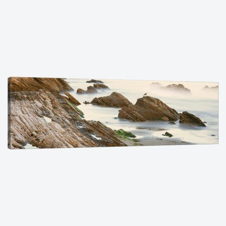 Coastal Rock Formations, Gaviota, Santa Barbara County, California, USA Canvas Print #PIM14143} by Panoramic Images Canvas Artwork