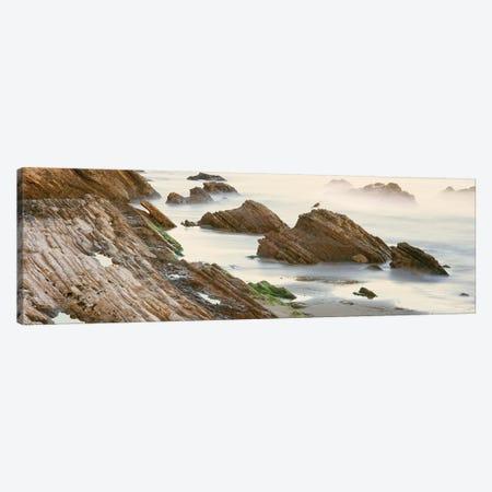 Coastal Rock Formations, Gaviota, Santa Barbara County, California, USA Canvas Print #PIM14143} by Panoramic Images Canvas Artwork