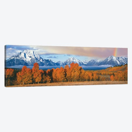 Autumn Landscape II, Teton Range, Rocky Mountains, Oxbow Bend, Wyoming, USA Canvas Print #PIM14145} by Panoramic Images Canvas Print