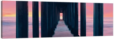Sunset, Beneath Scripps Pier, La Jolla, San Diego, San Diego County, California, USA Canvas Print #PIM14147