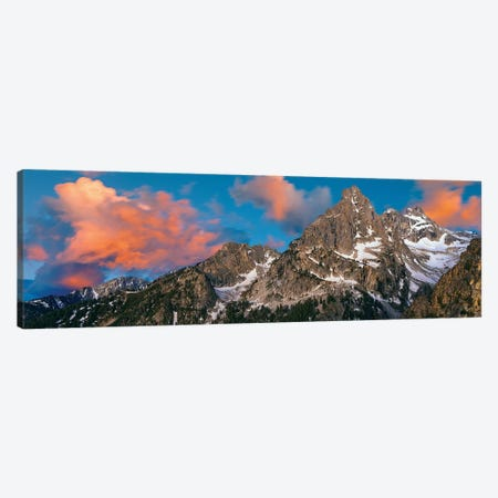 Teton Range II, Rocky Mountains, Grand Teton National Park, Teton County, Wyoming, USA Canvas Print #PIM14150} by Panoramic Images Art Print