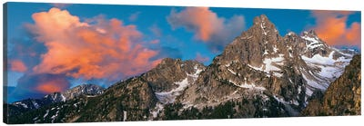 Teton Range II, Rocky Mountains, Grand Teton National Park, Teton County, Wyoming, USA Canvas Art Print