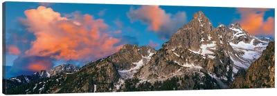 Teton Range II, Rocky Mountains, Grand Teton National Park, Teton County, Wyoming, USA Canvas Art Print