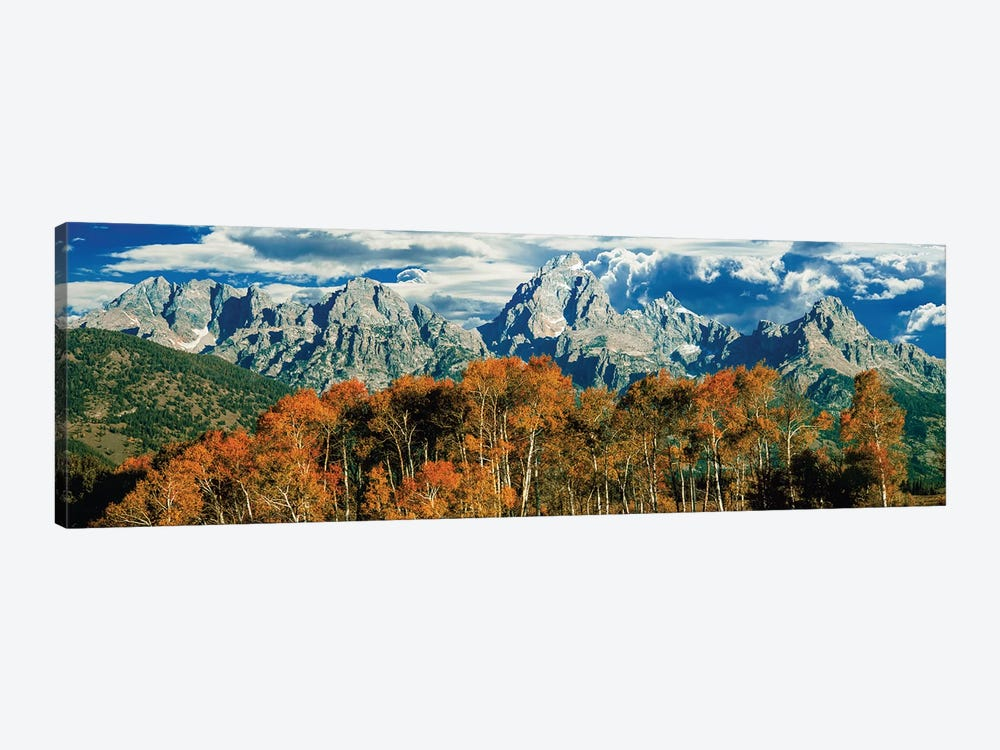 Autumn Landscape, Teton Range, Rocky Mountains, Grand Teton National Park, Wyoming, USA 1-piece Canvas Art