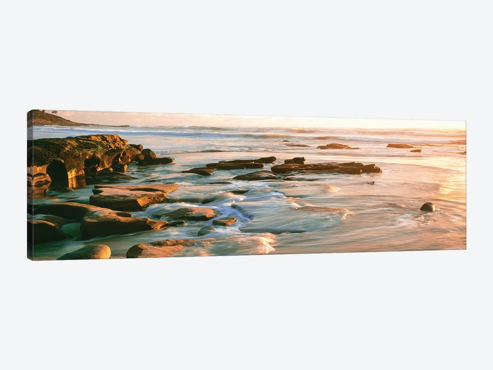 Coastal Rock Formations I, Windansea Beach, La Jolla, San Diego, San Diego County, California, USA by Panoramic Images 1-piece Canvas Artwork
