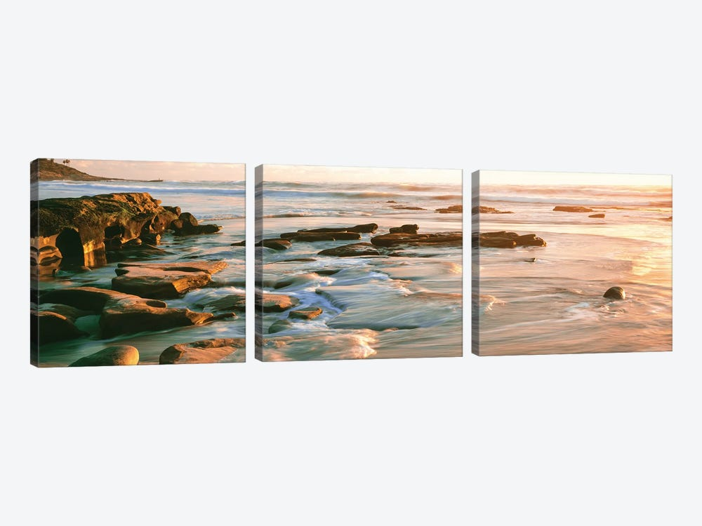 Coastal Rock Formations I, Windansea Beach, La Jolla, San Diego, San Diego County, California, USA 3-piece Canvas Artwork