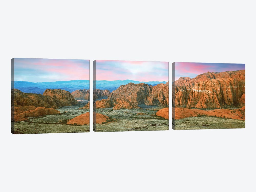 Snow Canyon State Park I, Washington County, Utah, USA by Panoramic Images 3-piece Canvas Artwork