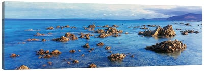 Coastal Rock Formations, Gulf of California (Sea of Cortez), Baja California Sur, Mexico Canvas Art Print