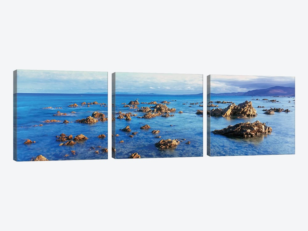 Coastal Rock Formations, Gulf of California (Sea of Cortez), Baja California Sur, Mexico by Panoramic Images 3-piece Canvas Artwork