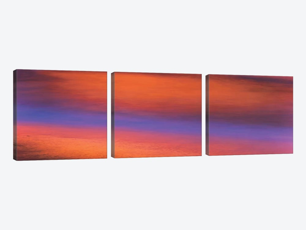 Ocean Sunset, Windansea Beach, La Jolla, San Diego, California, USA by Panoramic Images 3-piece Canvas Art Print