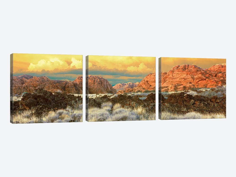 Snow Canyon State Park II, Washington County, Utah, USA by Panoramic Images 3-piece Canvas Art Print