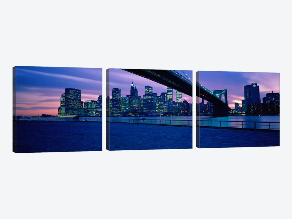 NYC, New York City New York State, USA #2 by Panoramic Images 3-piece Art Print