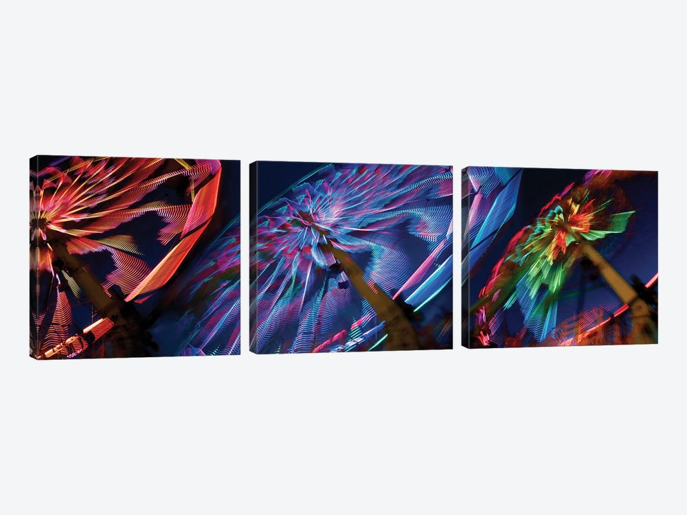 Paper Windmills in Zoom by Panoramic Images 3-piece Canvas Print