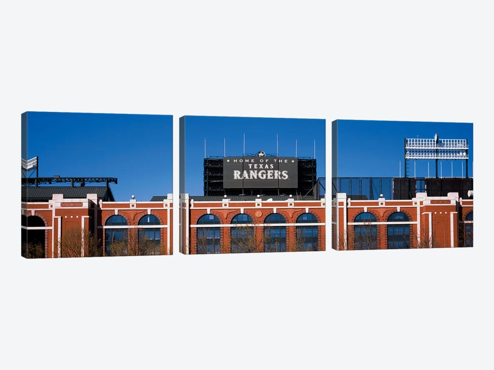 Home Of The Texas Rangers, Globe Life Park In Arlington, Arlington, Tarrant County, Texas, USA by Panoramic Images 3-piece Canvas Wall Art