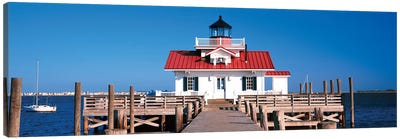 Roanoke Marshes Lighthouse, Outer Banks, Manteo, Dare County, North Carolina, USA Canvas Print #PIM14182