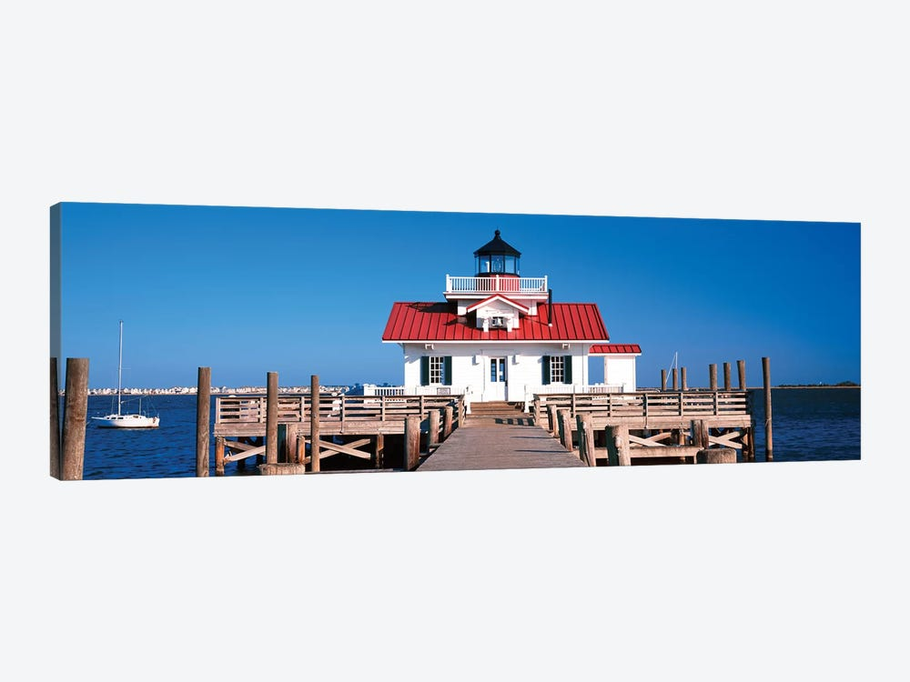 Roanoke Marshes Lighthouse, Outer Banks, Manteo, Dare County, North Carolina, USA by Panoramic Images 1-piece Canvas Art Print